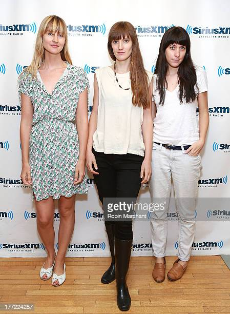 Erika Forster Annie Hart and Heather D'Angelo of Au Revoir Simone visit at SiriusXM Studios on August 22 2013 in New York City