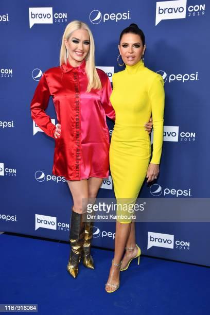 Erika Girardi and Lisa Rinna attend the opening night of 2019 BravoCon at Hammerstein Ballroom on November 15 2019 in New York City