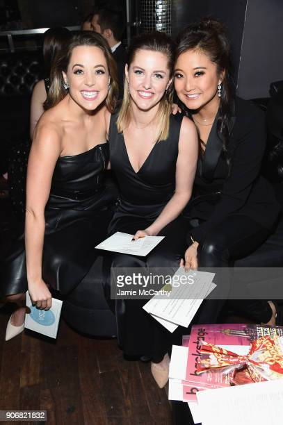 Erika Henningsen Taylor Louderman and Ashley Park pose at the Casting Society of America's 33rd annual Artios Awards at Stage 48 on January 18 2018...
