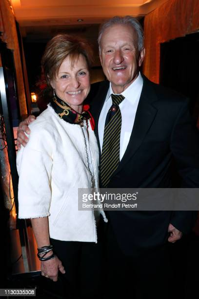 """Erika Hess and her usband Jacques Reymond attend the """"Snow Night - La Nuit des Neiges"""" Charity Gala on February 16, 2019 in Crans-Montana,..."""