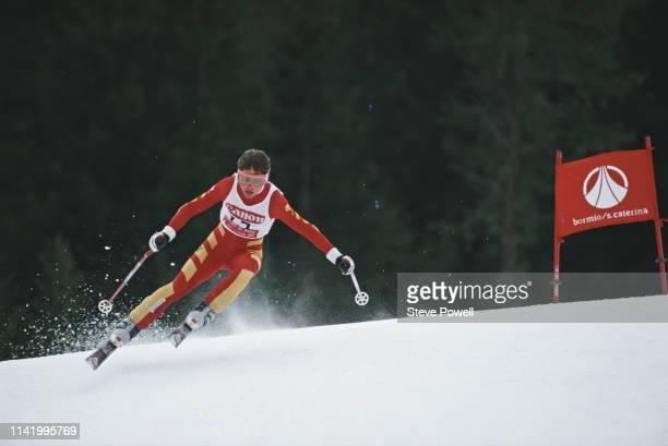 Erika Hess of Switzerland skiing in the Women's Giant Slalom event at the International Ski Federation FIS Alpine World Ski Championships on 6...