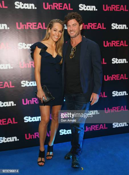 Erika Heynatz and Andrew Kingston attend the UnREAL Australian Premiere Party on February 23 2018 in Sydney Australia