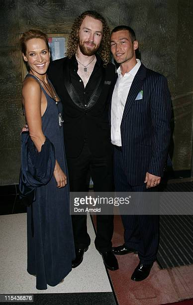 Erika Heynatz Director Shane Abbess and Andy Whitfield attend the Australian premiere of Gabriel at the Entertainment Quarter Fox Studios on November...