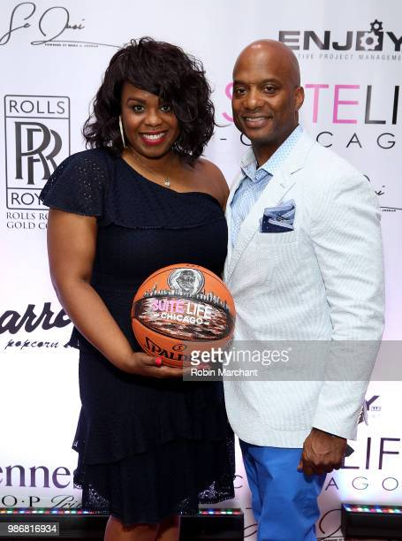 Erika Janee Jordan and Julian Green attend Suite Life Welcome The BIG 3 NBA Veterans To Chicago at Perillo Rolls Royce on June 28 2018 in Chicago...