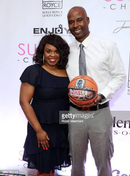 Erika Janee Jordan and Quentin Richardson attend Suite Life Welcome The BIG 3 NBA Veterans To Chicago at Perillo Rolls Royce on June 28 2018 in...