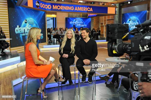 AMERICA Erika Jayne and Gleb Savchenko of 'Dancing With the Stars' are guests on 'Good Morning America' Tuesday April 18 2017 airing on the ABC...