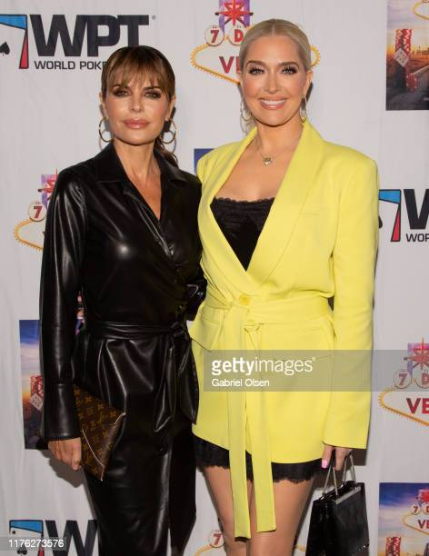 Erika Jayne and Lisa Rinna arrive for the LA Premiere Of 7 Days To Vegas at Laemmle Music Hall on September 21 2019 in Beverly Hills California