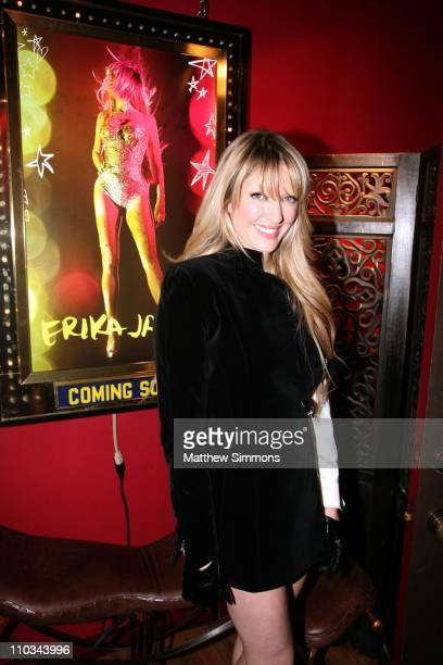 Erika Jayne arrives at her 'Pretty Mess' album release party at Coco de Mer on August 20 2009 in West Hollywood California