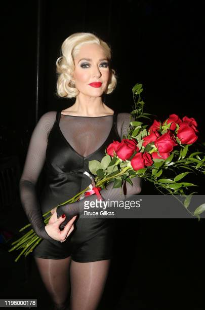 """Erika Jayne as """"Roxie Hart"""" poses backstage after making her broadway debut in the hit musical """"Chicago"""" on Broadway at The Ambassador Theater on..."""