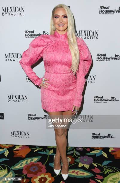 Erika Jayne attends Bravo's Premiere Party For The Real Housewives Of Beverly Hills Season 9 And Mexican Dynastiesat Gracias Madre on February 12...