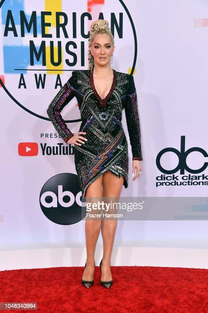 Erika Jayne attends the 2018 American Music Awards at Microsoft Theater on October 9 2018 in Los Angeles California