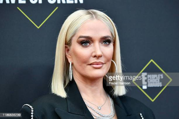 Erika Jayne attends the 2019 E People's Choice Awards at Barker Hangar on November 10 2019 in Santa Monica California