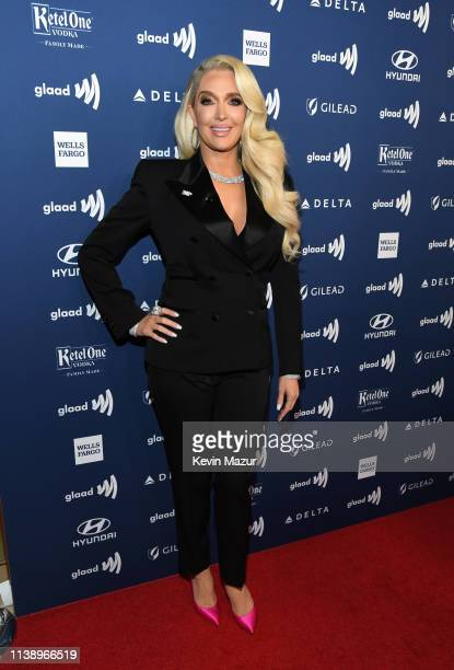 Erika Jayne attends the 30th Annual GLAAD Media Awards Los Angeles at The Beverly Hilton Hotel on March 28 2019 in Beverly Hills California