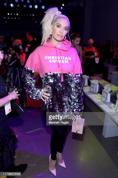 Erika Jayne attends the front row for Christian Cowan during New York Fashion Week The Shows at Gallery II at Spring Studios on September 10 2019 in...