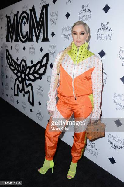 Erika Jayne attends the MCM Rodeo Drive Store Grand Opening Event at MCM Rodeo Drive on March 14 2019 in Beverly Hills California
