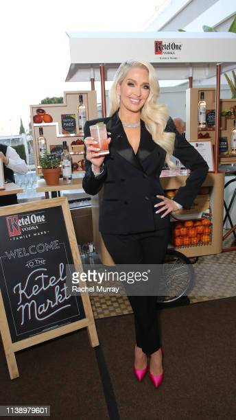 Erika Jayne enjoying a Ketel Soda cocktail at the Ketel Market at the 30th Annual GLAAD Media Awards Los Angeles in partnership with longstanding...