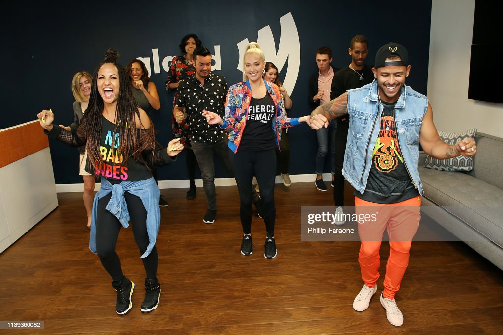 "CA: Erika Jayne Joins Forces With Zumba Fitness To Kick-Off Global Movement ""Zumba Breaks"" By Surprising GLAAD Employees With Zumba"