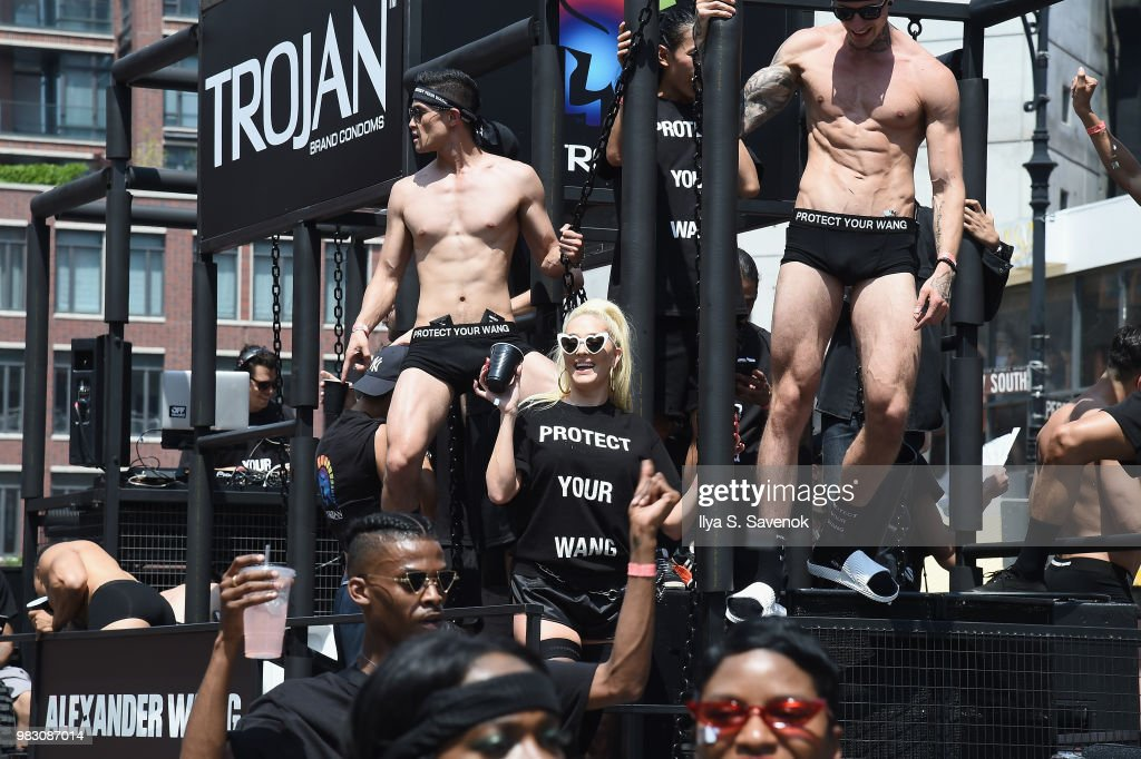 "Trojan Condoms And Alexander Wang Celebrate Their ""PROTECT YOUR WANG"" Collaboration At The New York City Pride March"