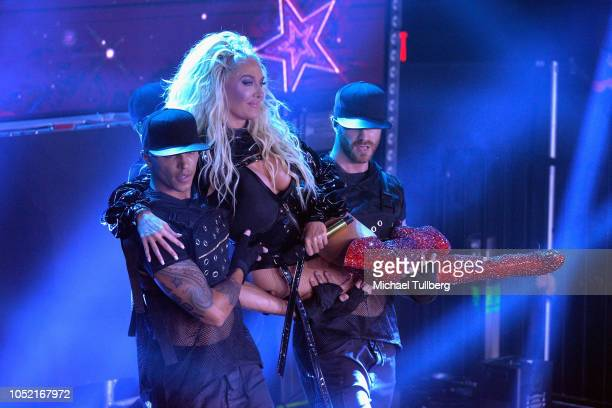 Erika Jayne performs on the Los Angeles date of her Pretty Mess Tour at The Globe Theater on October 14 2018 in Los Angeles California