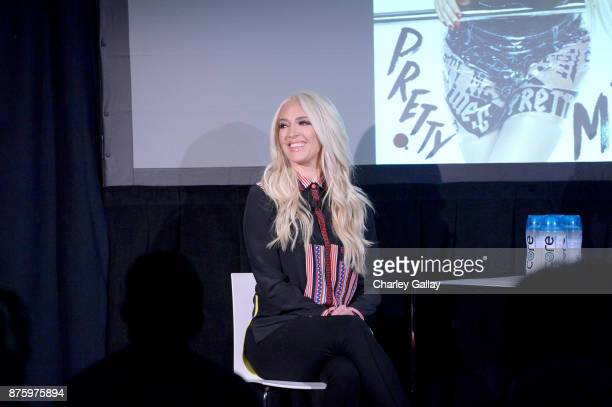 Erika Jayne speaks onstage during the 'It's XXPensive To Be Erika Jayne' event part of Vulture Festival LA Presented by ATT at Hollywood Roosevelt...