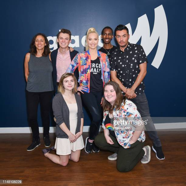 Erika Jayne surprises GLAAD offices in Los Angeles to recognize hard work and commitment of staff and volunteers at GLAAD Los Angeles on April 25,...