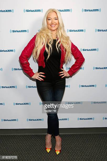 Erika Jayne visits 'Dirty Sexy Funny with Jenny McCarthy' at the SiriusXM Studios on April 5 2016 in Los Angeles California