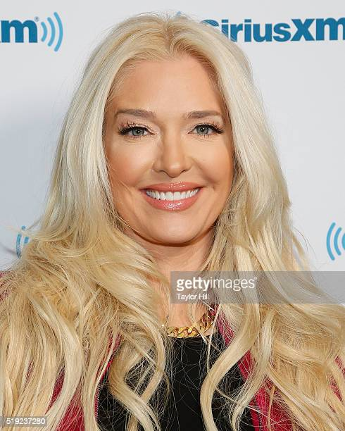 Erika Jayne visits Dirty Sexy Funny with Jenny McCarthy at the SiriusXM Studios on April 5 2016 in Los Angeles California