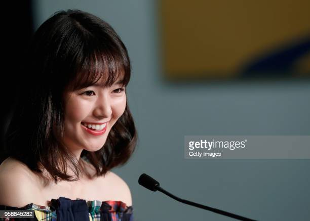 Erika Karata attends the press conference for Asako I II during the 71st annual Cannes Film Festival at Palais des Festivals on May 15 2018 in Cannes...