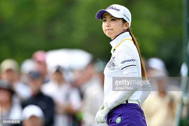 Erika Kikuchi of Japan looks on during the first round of the Resorttrust Ladies at the Grandee Naruto Golf Club XIV on May 27 2016 in Naruto Japan