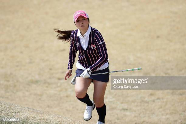 Erika Kikuchi of Japan on the 7th hole during the TPoint Ladies Golf Tournament at the Wakagi Golf Club on March 19 2017 in Aira Japan