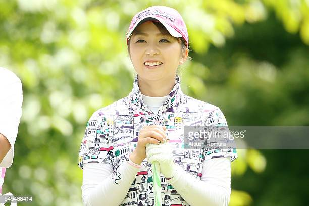 Erika Kikuchi of Japan smiles during the first round of the Nipponham Ladies Classics at the Ambix Hakodate Club on July 8 2016 in Hokuto Japan