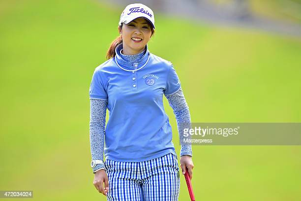 Erika Kikuchi of Japan smiles during the third round of the CyberAgent Ladies Golf Tournament at the Tsurumai Country Club West Course on May 3 2015...