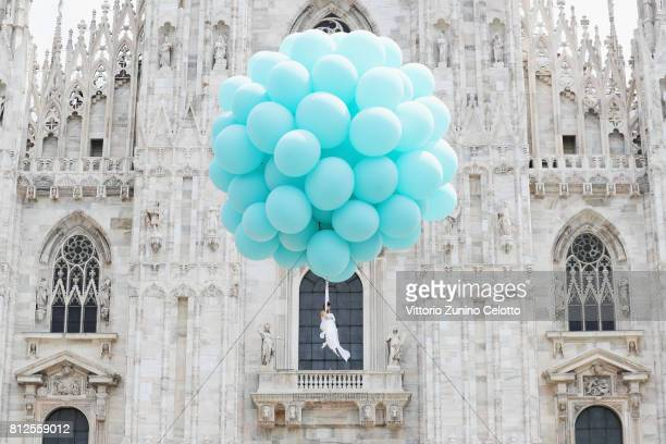 Erika Lemay attends the opening ceremony of the new Tiffany & Co. Store in Piazza Duomo on July 11, 2017 in Milan, Italy.