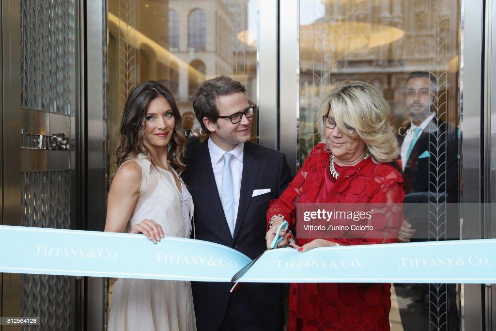 Tiffany & Co. - Milan Duomo New Store Opening - Ribbon Cutting Ceremony : News Photo