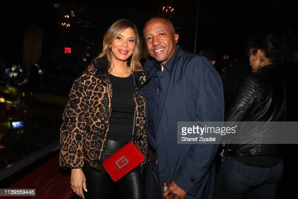Erika Liles and Kevin Liles attend Jay-Z Performs At Webster Hall - Backstage at Webster Hall on April 26, 2019 in New York City.