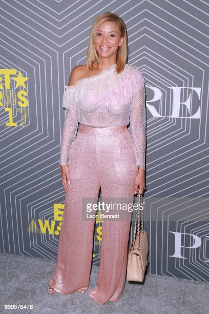 Erika Liles arrived at the 2017 BET Awards 'PRE' at The London West Hollywood on June 21 2017 in West Hollywood California