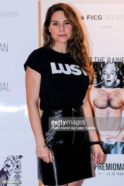 Erika Lust Swedish erotic film director poses during the 33 Guadalajara International Film Festival on March 15 2018 in Guadalajara Mexico