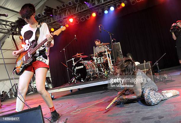 Erika M Anderson of EMA performs at Day 1 of the Bonnaroo Music And Arts Festival on June 7 2012 in Manchester Tennessee