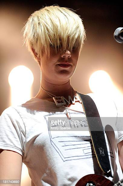 Erika M Anderson of EMA performs on stage during day six of the Festival Les Inrocks 2011 at L'Olympia on November 7 2011 in Paris France