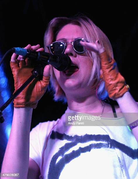 Erika M Anderson of EMA performs onstage at Moog/Switched On during the 2014 SXSW Music Film Interactive Festival at Elysium on March 15 2014 in...