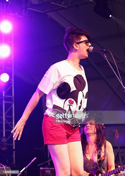 Erika M Anderson of EMA performs onstage at The Other Tent during Day 1 of Bonaroo 2012 on June 7 2012 in Manchester Tennessee