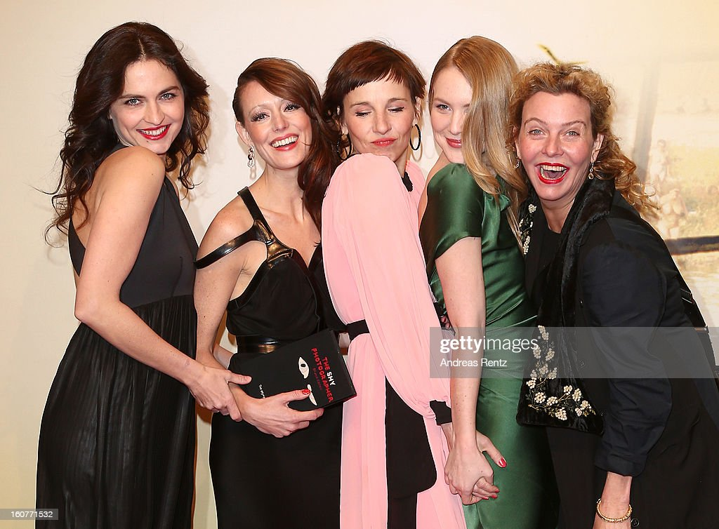 Erika Marozsan, Lavinia Wilson, Meret Becker, Lisa Smit and Margarita Broich attend 'Quelle des Lebens' Germany Premiere at Delphi Filmpalast on February 5, 2013 in Berlin, Germany.