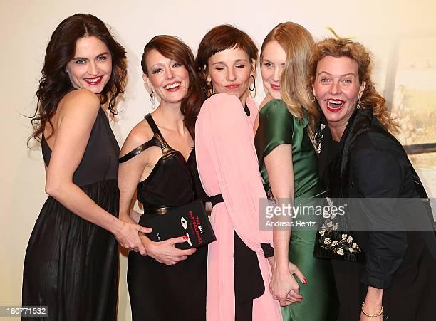 Erika Marozsan, Lavinia Wilson, Meret Becker, Lisa Smit and Margarita Broich attend 'Quelle des Lebens' Germany Premiere at Delphi Filmpalast on...