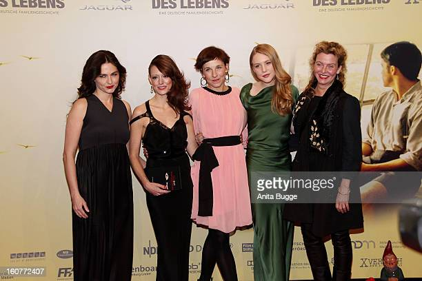 Erika Marozsan Lavinia Wilson Meret Becker Lisa Smit and Margarita Broich attend the attend 'Quelle des Lebens' Germany Premiere at Delphi Filmpalast...
