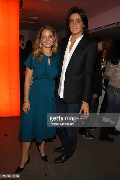 Erika Mercado and Manuel Norena attend VOTOLATINO 1 Year Anniversary Hosted by Rosario Dawson at Emporio Armani on November 15 2005 in New York City