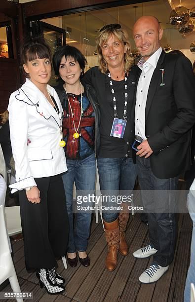Erika Moulet Liane Foly Rejane Lacoste and Franck LebÏuf at Roland Garros Village