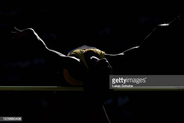 Erika Nonhlanhla Seyama of Team Africa competes in the Womens High Jump during day two of the IAAF Continental Cup at Mestsky Stadium on September 9...