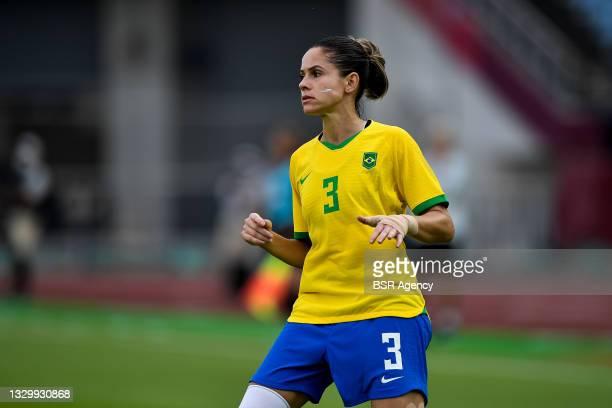 Erika of Brazil during the Tokyo 2020 Olympic Football Tournament match between China and Brazil at Miyagi Stadium on July 21, 2021 in Rifu, Japan