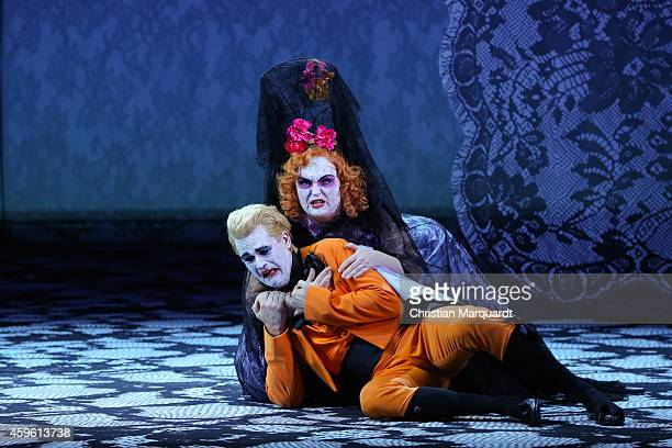 Erika Roos And Adrian Strooper Perform On Stage During Don Giovanni Photo Rehearsal At