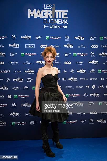 Erika Sainte actress at the Magritte who awards the best of the Belgian French Speaking Industry